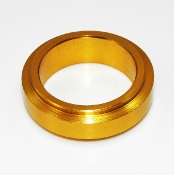 10mm Wheel Hub Spacers, 25mm Spindle, Aluminum Gold or Silver