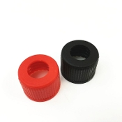 Fuel Tank Fitting Cap - Black. Fits on top of fuel tank for pickup and vent line.