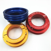 Anodized Aluminum Pulley for Water Pump Belt - 50mm