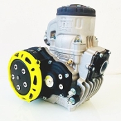 TM KZ-R1 Black Edition Shifter Kart Engine Package - Yellow Ring